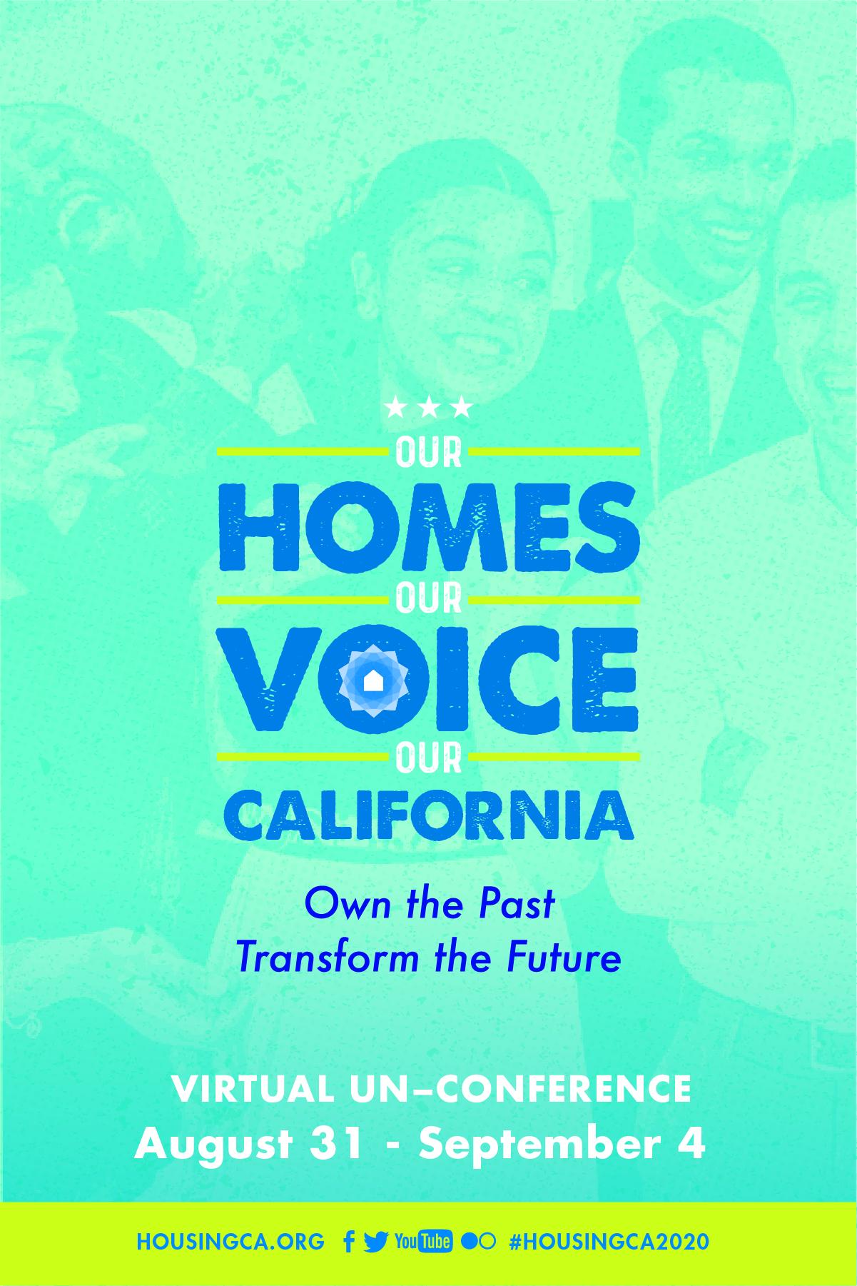 Housing California Virtual Un-Conference poster